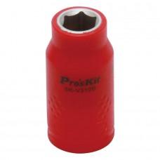Изолированная 3/8 дюйма торцевая головка Proskit SK-V310B 10 мм (1000 В - VDE)
