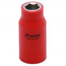 Изолированная 1/2 дюйма торцевая головка  Proskit SK-V412B 12 мм (1000 В - VDE)