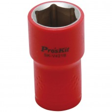 Изолированная 1/2 дюйма торцевая головка  Proskit SK-V421B 21 мм (1000 В - VDE)