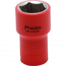 Изолированная 1/2 дюйма торцевая головка  Proskit SK-V422B 22 мм (1000 В - VDE)